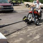Motorcycle Dolly with LONG Trailing Bar