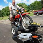 Motorcycle Dolly with SHORT Trailing Bar